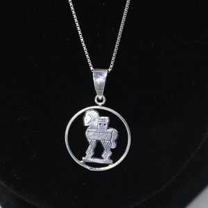Jewelry - Sterling Silver Trojan Horse Necklace